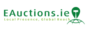 E Auctions Logo Local presence Global Reach