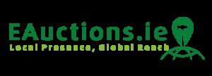 E Auctions Logo Local presence Global Reach
